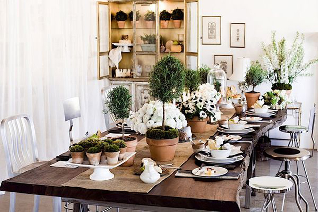 14 Table Top And Tapiaries Decor Ideas