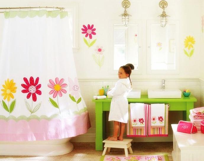 Kids bathroom colors