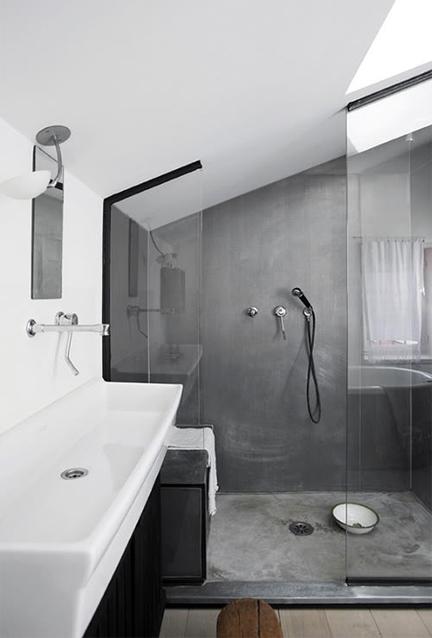 Modern-concrete-bathroom-