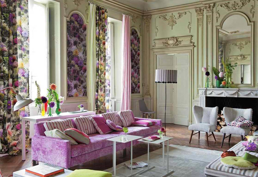 Vivacious-Living-Space-applied-with-French-Home-Décor-Ideas