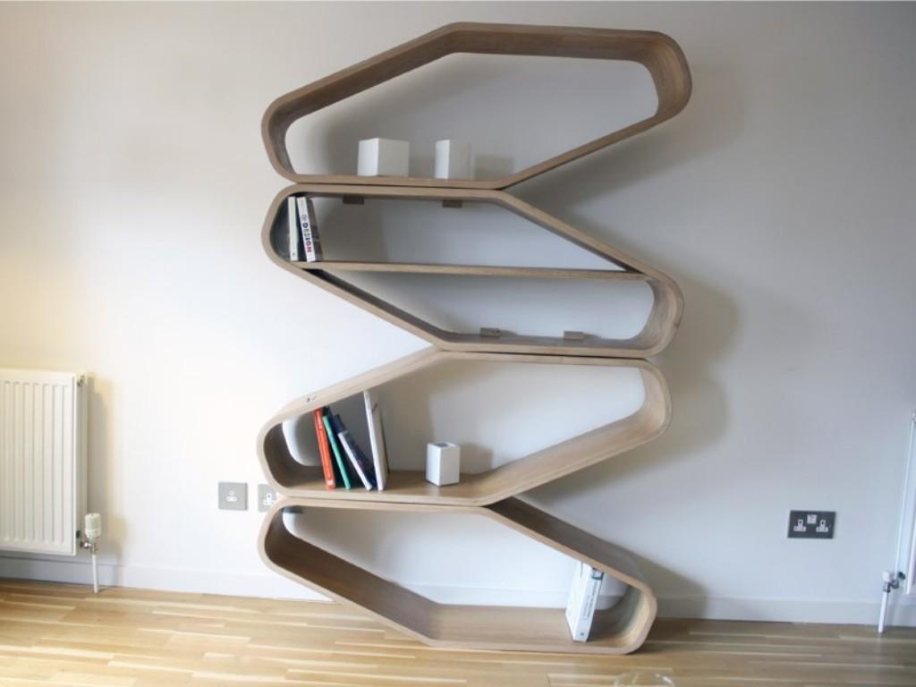 Wave-Zigzag-Bookshelf-Design-