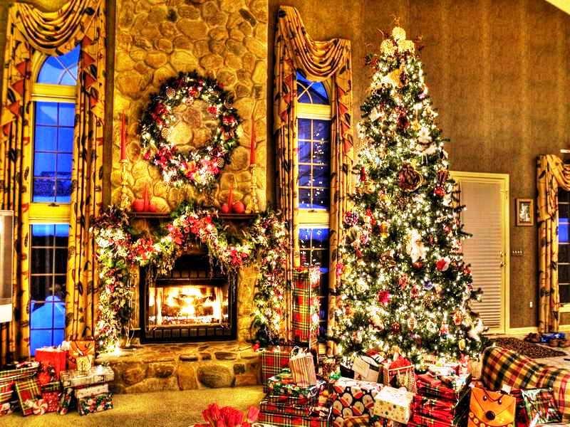 fireplace-garland-decorating-idea
