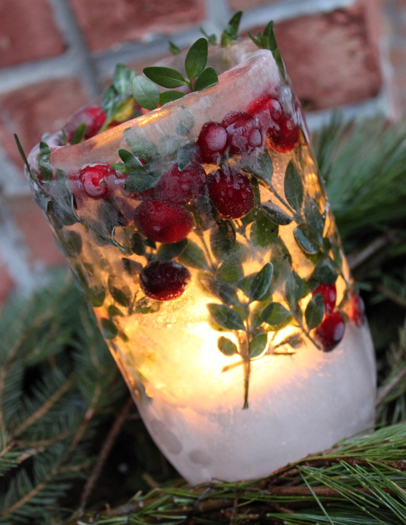 ice lantern diy ideas