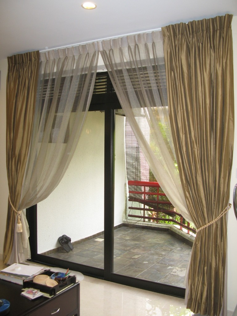 Awesome Gold White Simple Designer Curtains for Windows