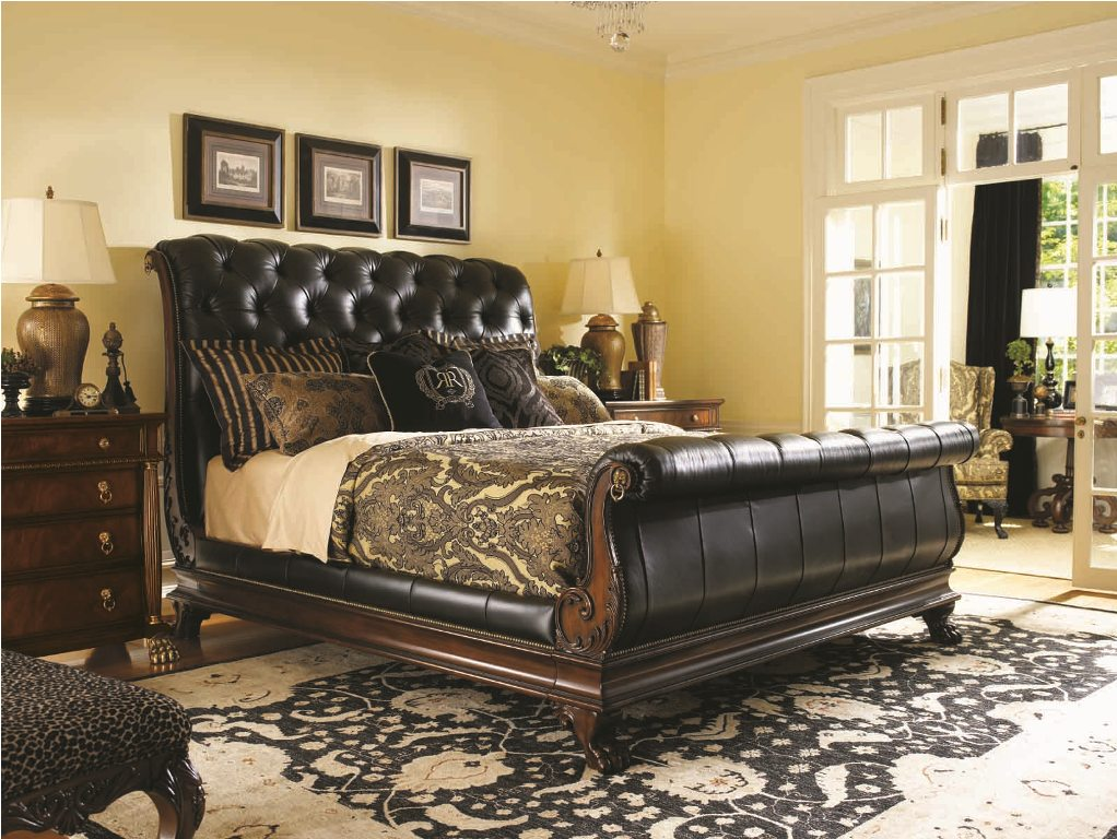 leather-sleigh-bed-bedroom-set-