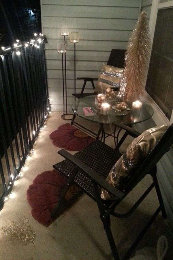 Small Balcony Lighting Ideas
