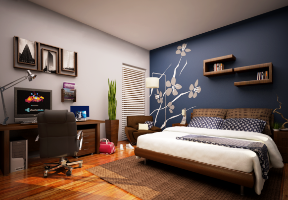 blue-accent-wall-bedroom