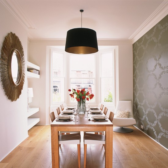 grey-statement-wallpaper-dining-room
