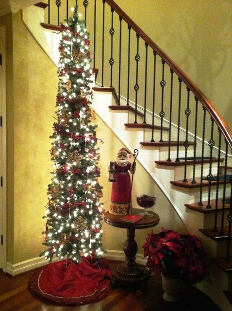 modern pencil christmas tree decor
