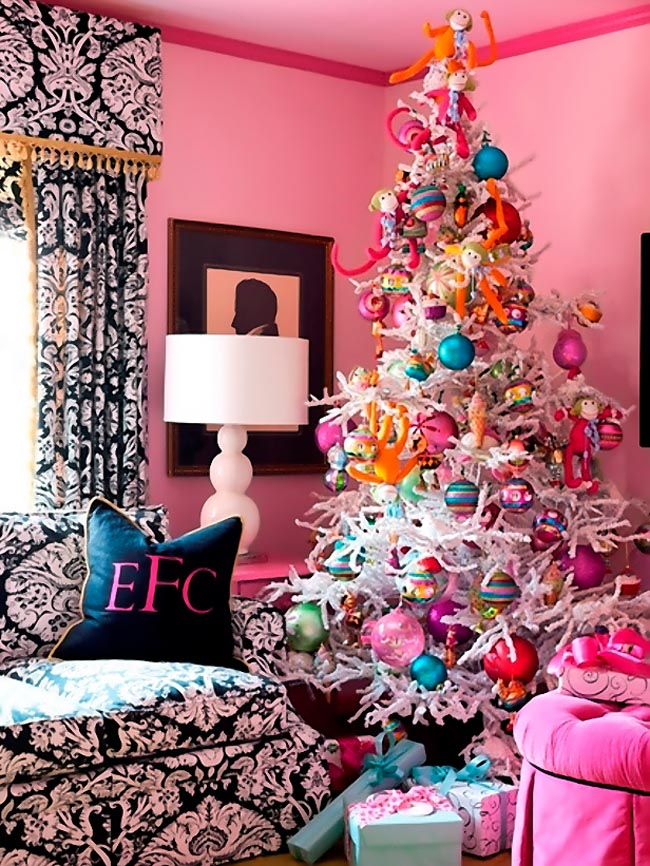 Decoration-Pink-Color-For-Christmas-Tree-Ideas