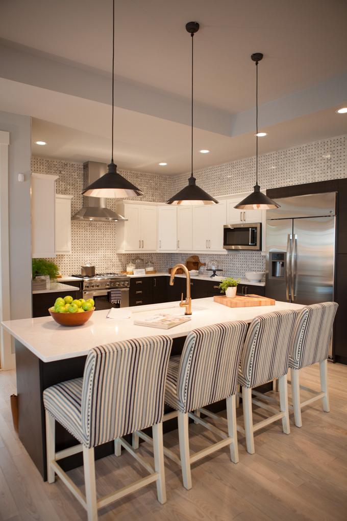 The kitchen color scheme