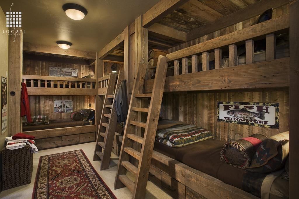 Rustic Kids Bedroom Design Idea