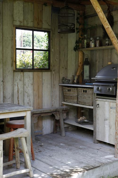 vintage outdoor kitchen