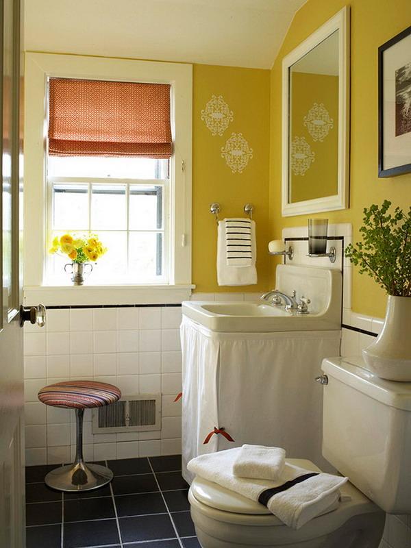 Cheerful Yellow Bathroom Color