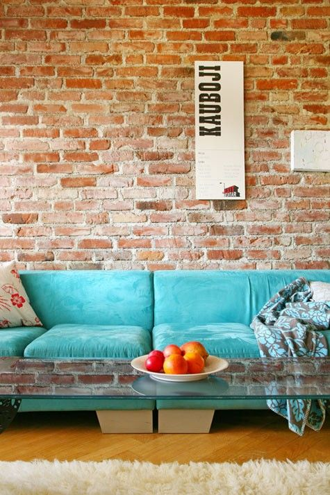 Modern And Classy Interiors With Brick Walls Exposed