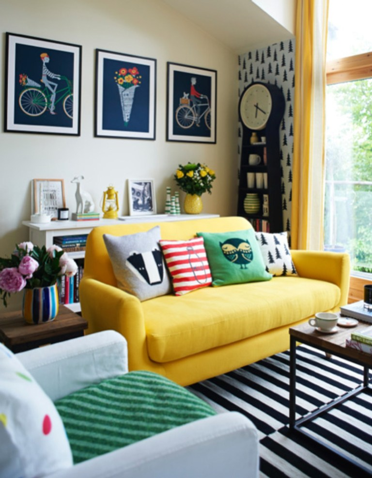 Yellow-Sofa-for-Small-Living-Room-Design-with-Cheerful-Color-Schemes