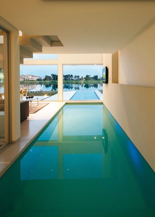 luxurious indoor and outdoor pool