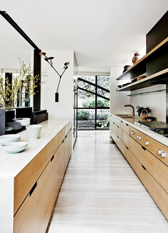 narrow-kitchen-design-idea