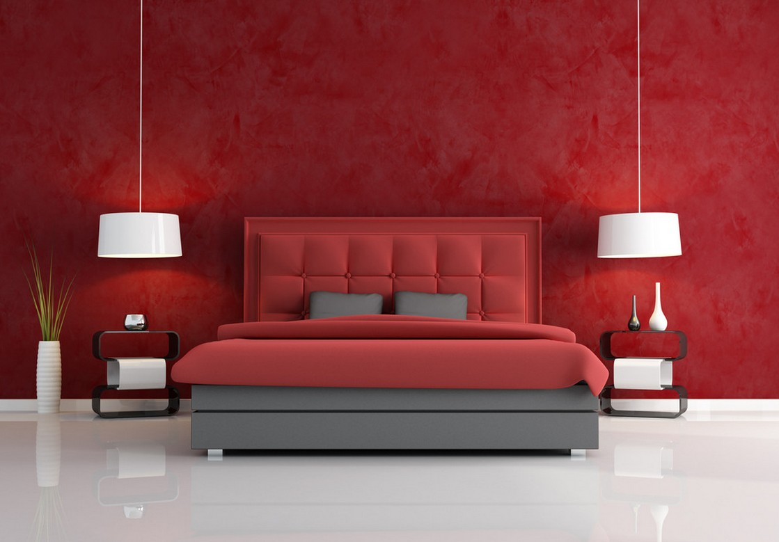 2016-Creative-bedroom-wall-decoration-in-red
