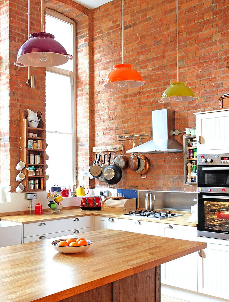Gorgeous Kitchens with Brick Walls Ideas