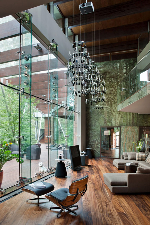 Awesome Modern House Near Moscow Interior Open Plan Floor