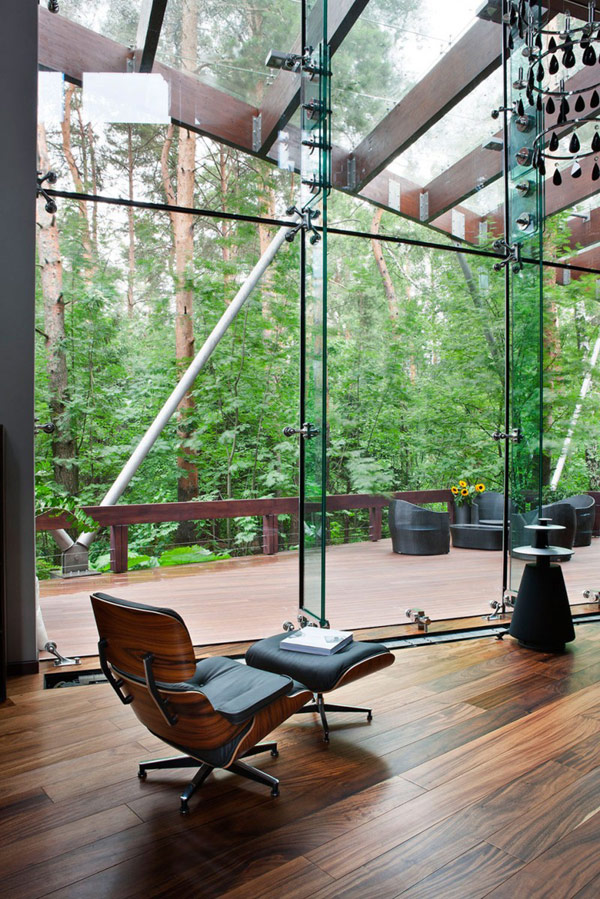 Contemporary Leather Chair Modern House Near Moscow Furniture