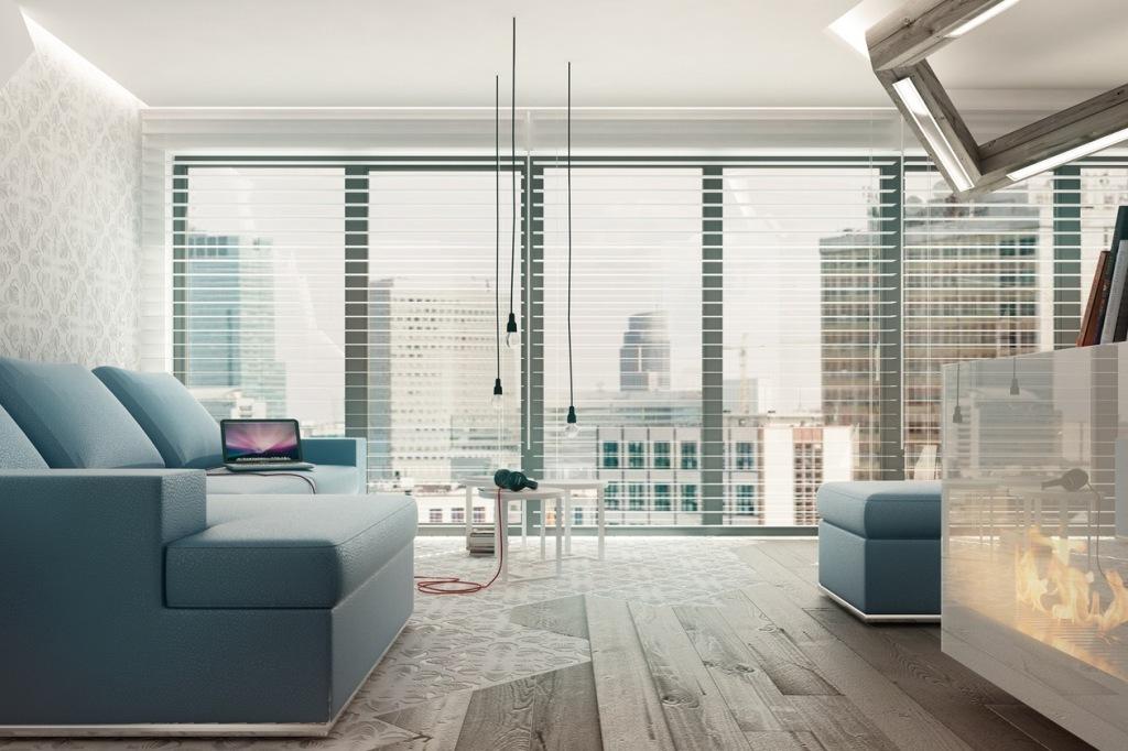 Blue-white-living-room