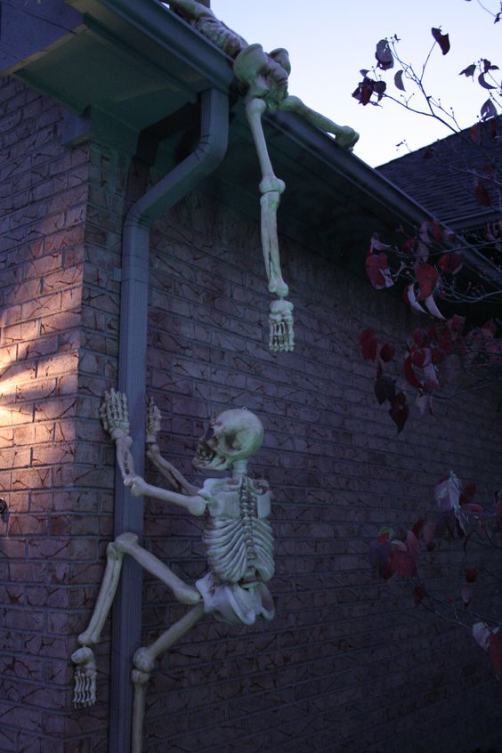 Funny Skull Outdoor Halloween Decorations
