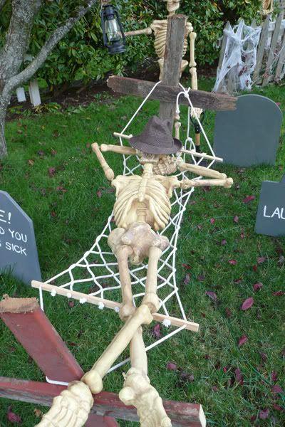 Funny Skeleton In A Hammock
