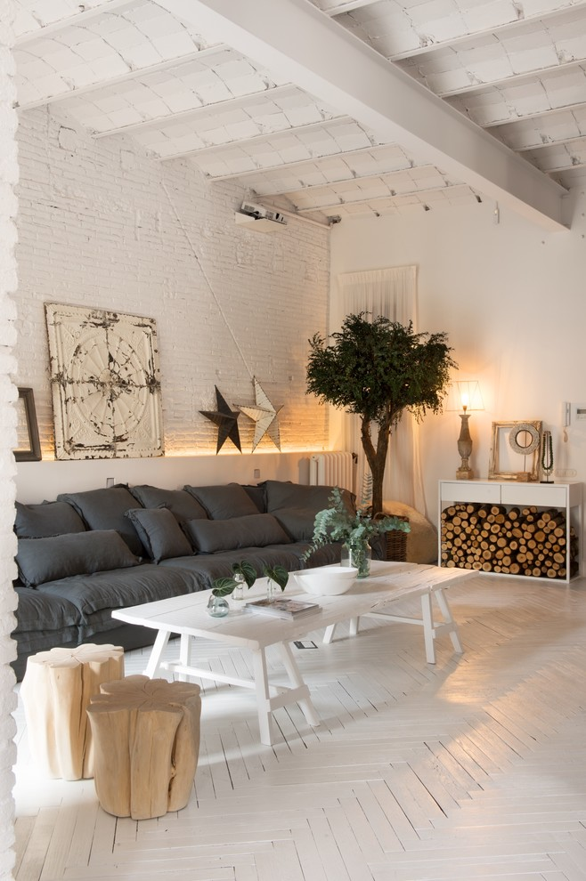Shabby-Chic Style Living Room Design