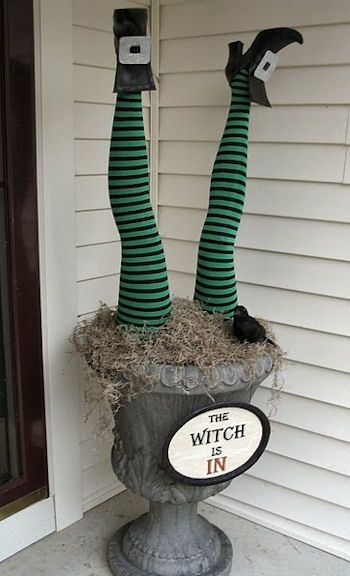 Witch's Legs Patio Decoration Ideas