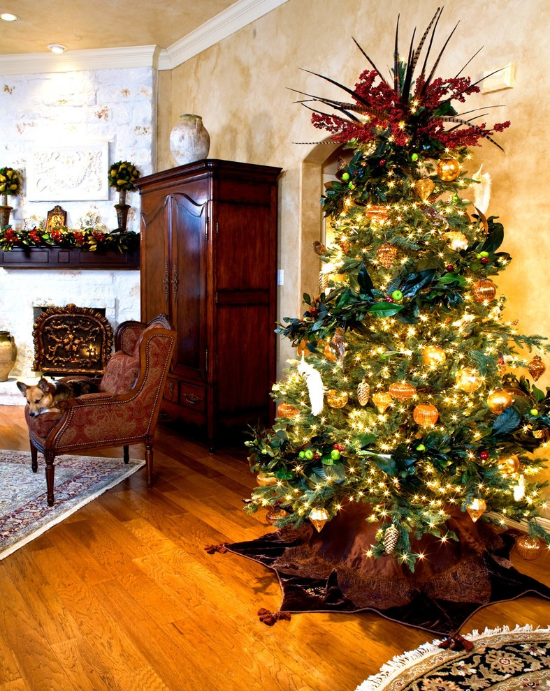 christmas-mediterranean-living-room-design