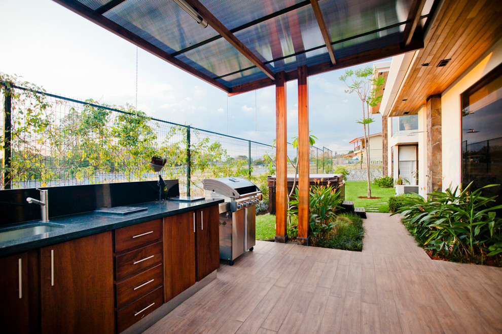 Tropical Backyard Deck Design