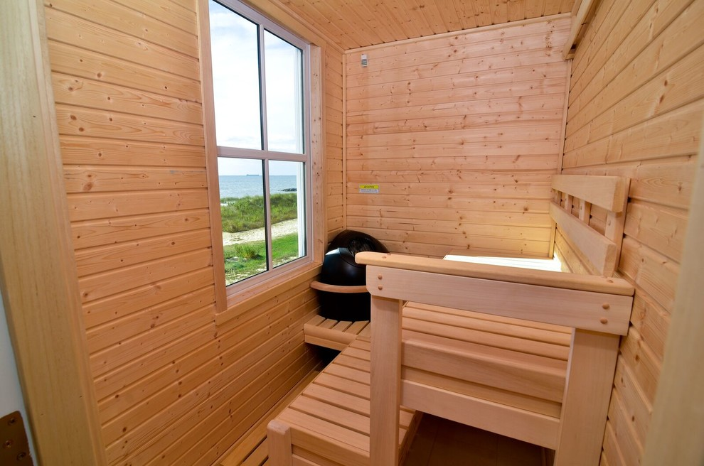 Beach-Style Sauna Design