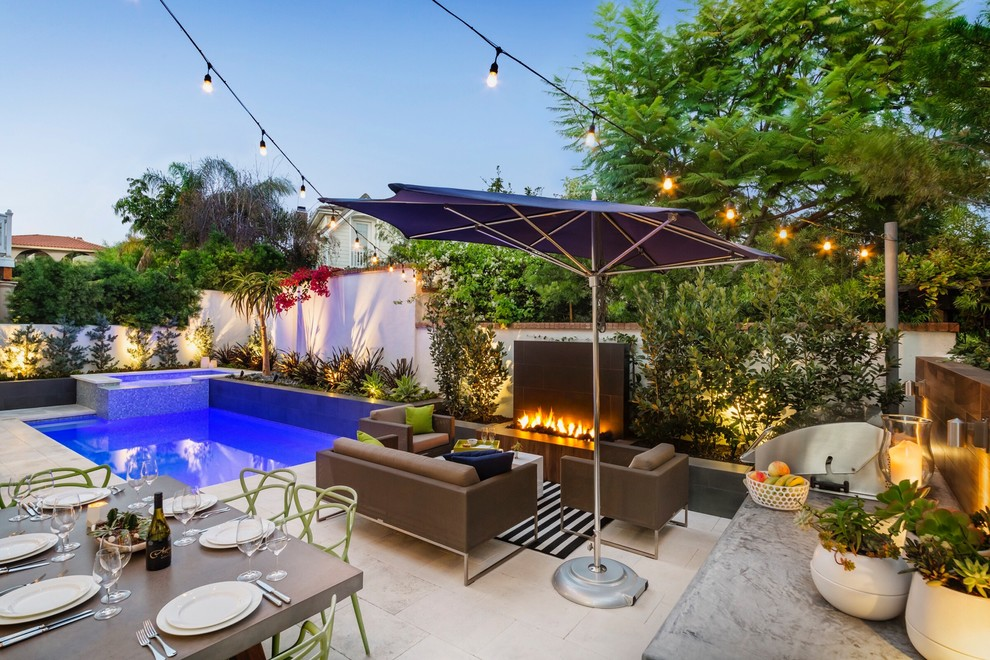 Mediterranean Backyard Patio Design