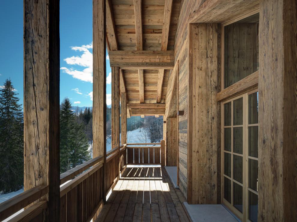 Rustic Balcony Design