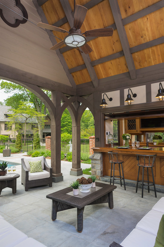 Wooden Traditional Patio Design