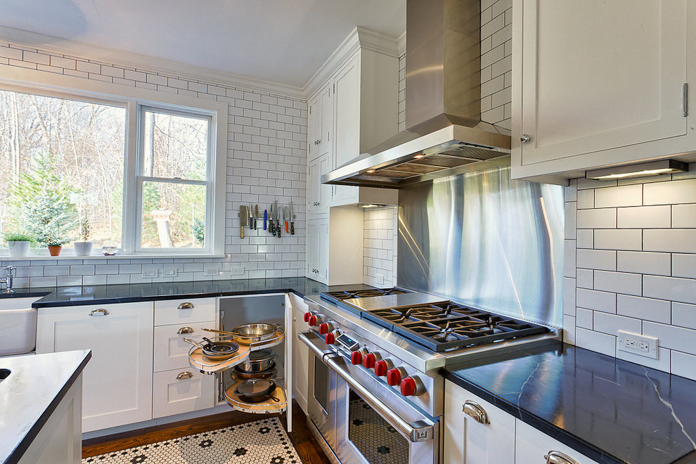 All White Craftsman Kitchen Design