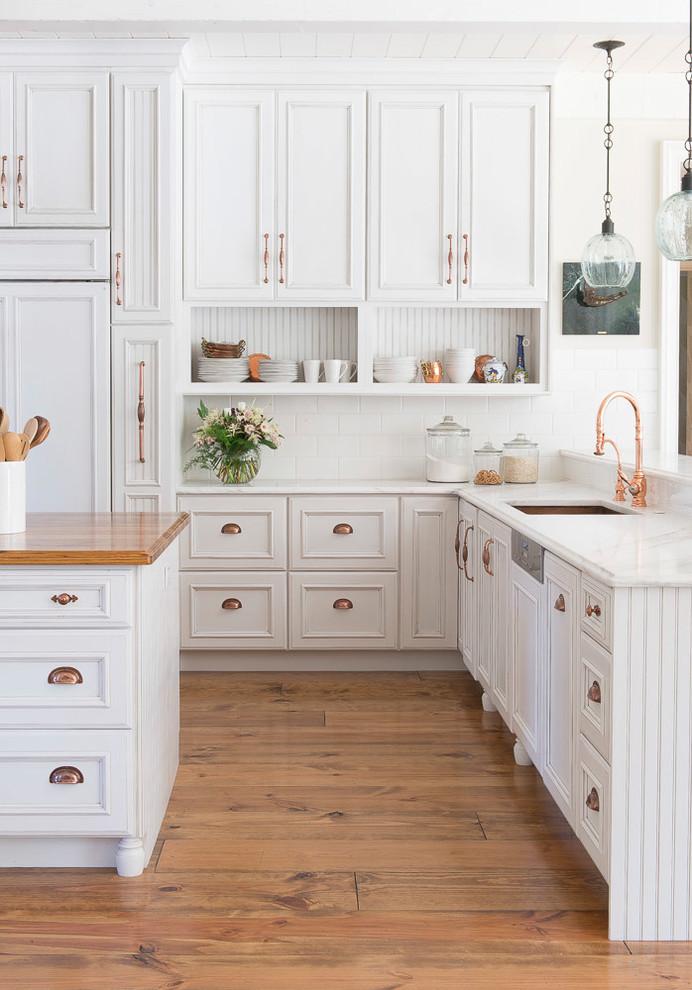 All White Farmhouse Kitchen Design