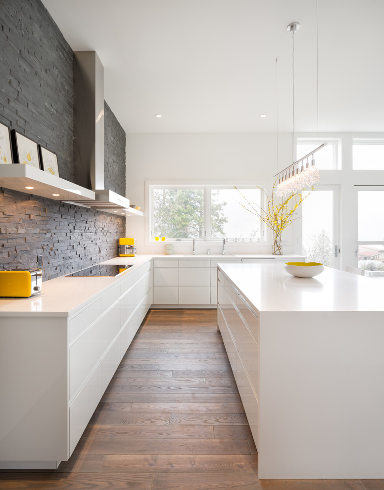 All White Modern Kitchen Design