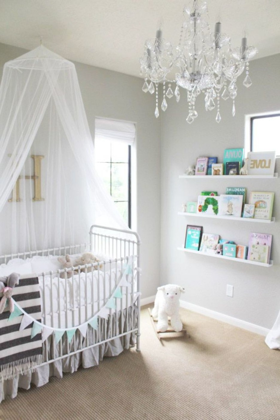 Charming White Baby Room