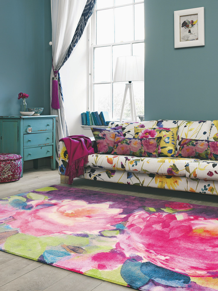 Eclectic Living Room Rug Design