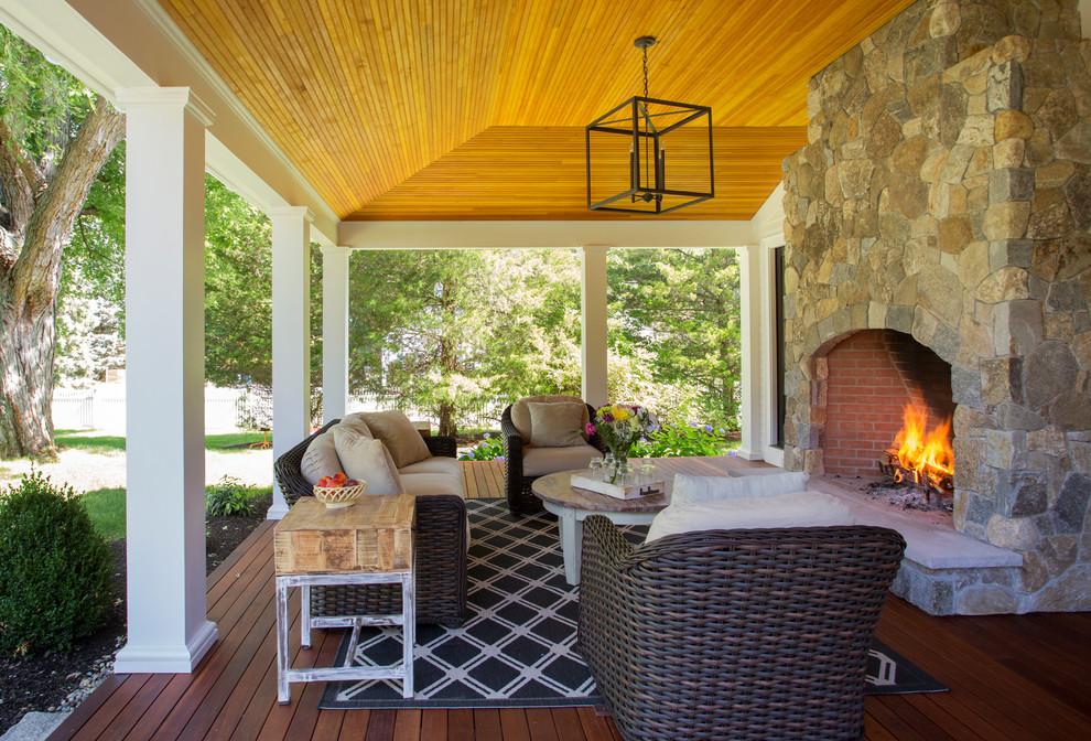 Farmhouse Backyard Porch Design