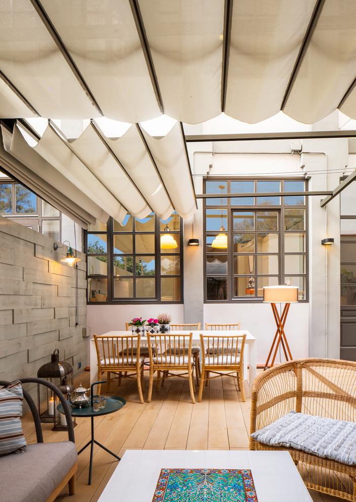 Industrial Backyard Porch Design