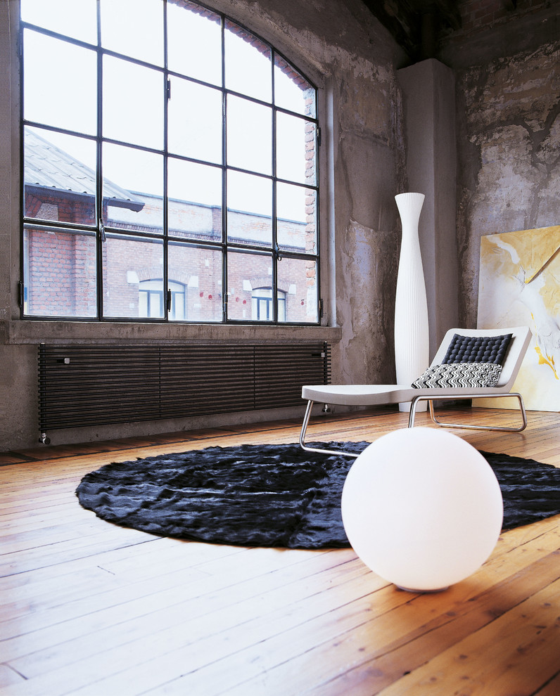 Industrial Loft Style Living Room Rug