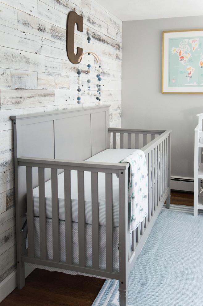 Iron Crib in Industrial Kids Bedroom