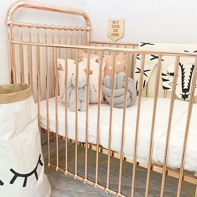 Iron Crib in Scandinavian Kids Bedroom