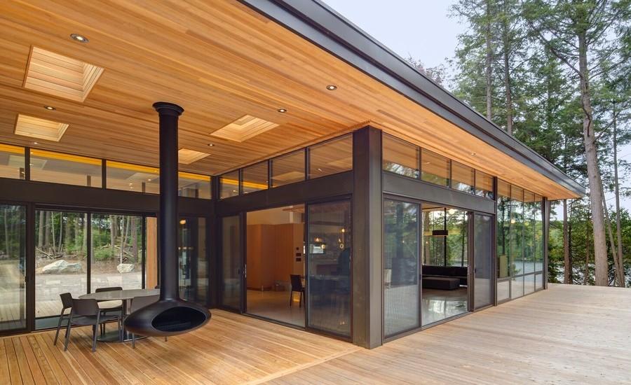 Midcentury Backyard Porch Design