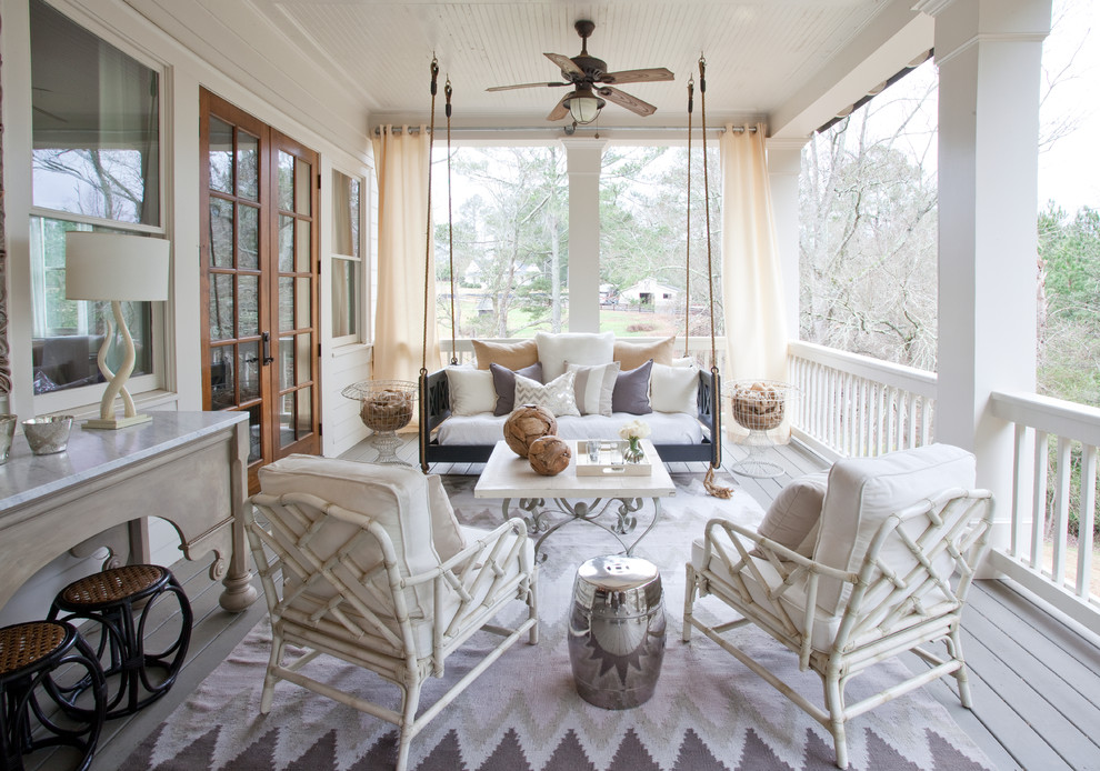 Traditional Backyard Porch Design