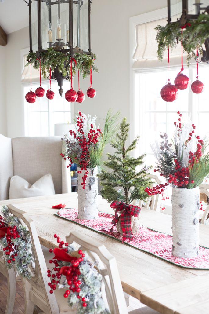 Beach Style Christmas Dining Room Decoration Ideas
